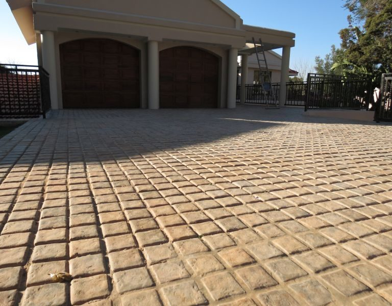 Contractor Cobble on the driveway