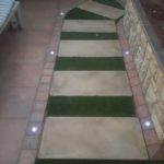 Ibanzi Paver walkway with grass, landscaping design