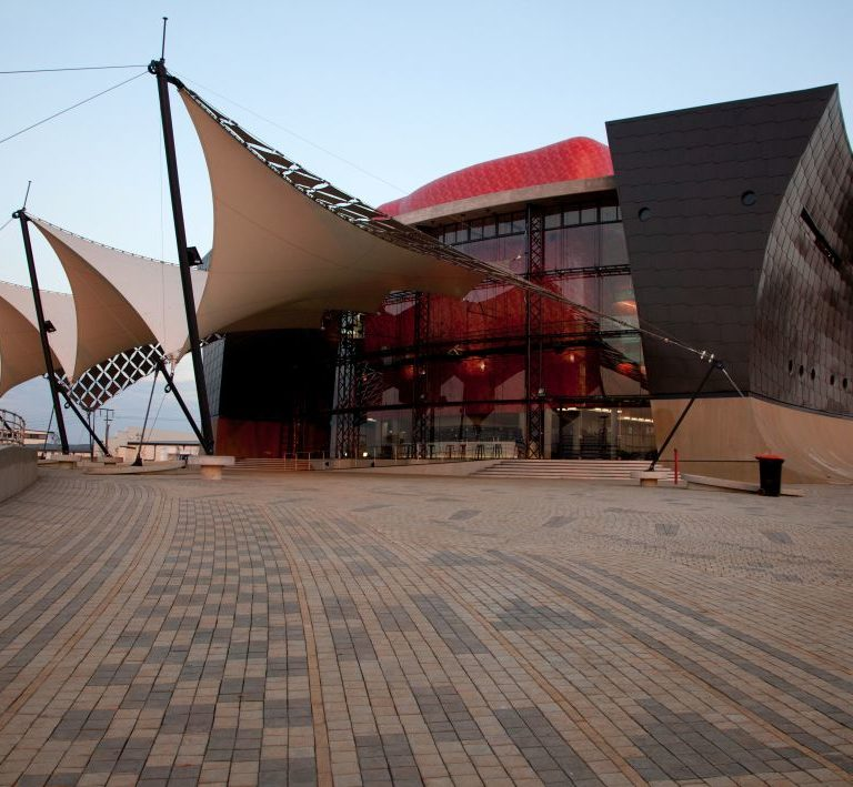 SmartStone cobbles at Soweto Theatre walkway