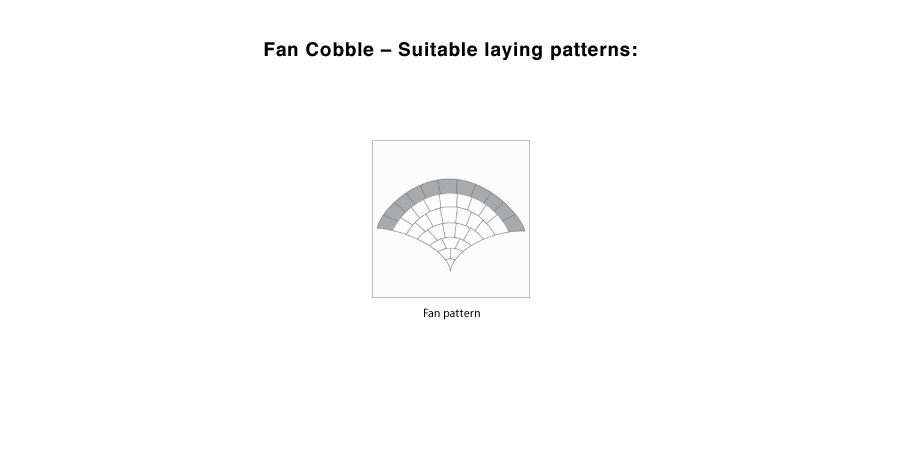Fan cobble suitable laying pattern line drawings