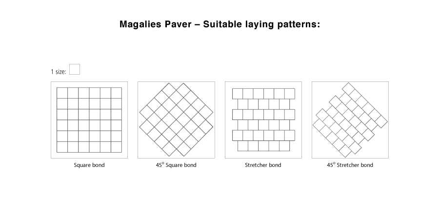Magalies suitable laying pattern line drawings