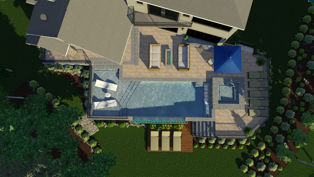 Design Service Render of an Outdoor Living Space
